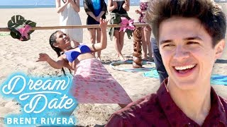 Video BRENT RIVERA's GIRLFRIEND Beach Challenge?! Dream Date with Brent Rivera EP 2 MP3, 3GP, MP4, WEBM, AVI, FLV Oktober 2018