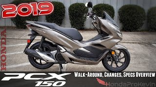 7. 2019 Honda PCX150 Walk-Around / Review of Specs (4K) | Scooter (PCX 150 cc)