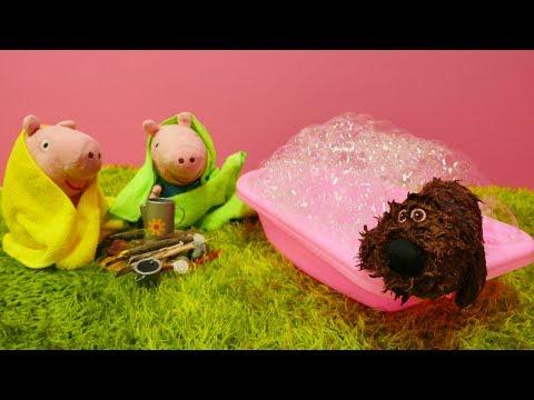 Видео для детей про СВИНКУ ПЕППУ 🐷 Джордж и Пеппа подцепили БЛОХ от собаки Мультики с игрушками