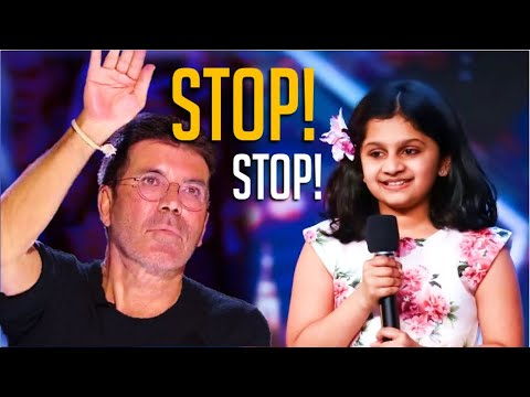 Simon Cowell STOPS 10 Year-Old Indian Girl Mid-Performance! What She Does Next Will Blow Your Mind!