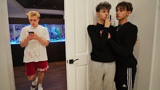 We Snuck Into Jake Paul's House For 24 Hours.. (CAUGHT)