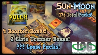 175 Packs of Sun and Moon! GOLDEN ULTRA BALL?! by Master Jigglypuff and Friends