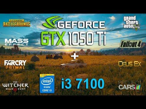 GTX 1050 Ti + i3 7100 Test in 8 Games