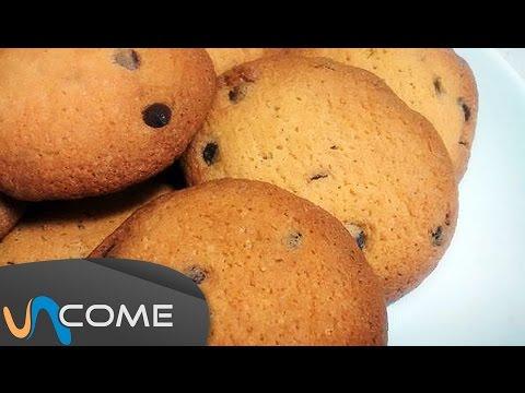 biscotti con gocce di cioccolato - la videoricetta