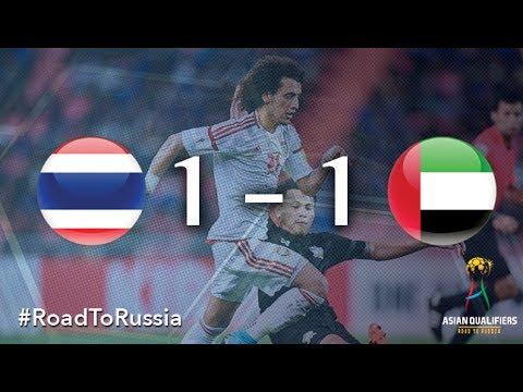 Xem lại Thái Lan 1 - 1 U.A.E. 13-6-2017, Highlights, VL World Cup 2015-2018