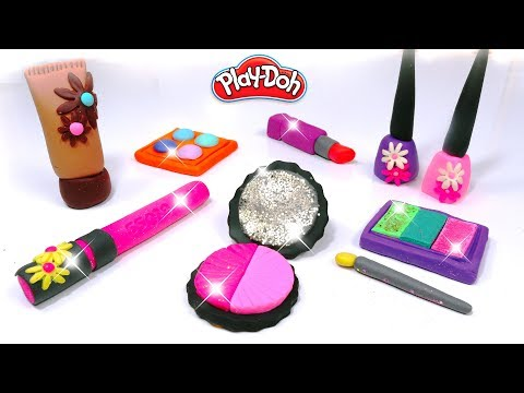 💖 Play Doh Makeup Set How to Make Eyeshadow Lipstick ✨ Nail Polish with Play Doh Fun for Kids