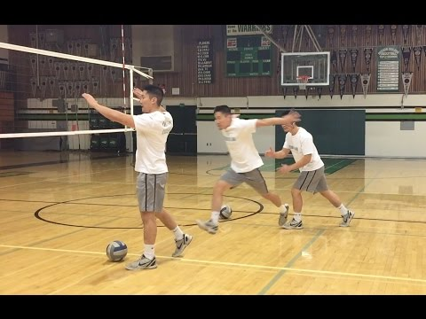 Right Side Spiking FOOTWORK - How to SPIKE a Volleyball Tutorial