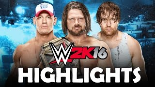 WWE2k16 - Ambrose vs. Cena vs. AJ Styles - HIGHLIGHTS - No Mercy