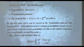 Probability And Random Variables - Week 8 - Lecture 1