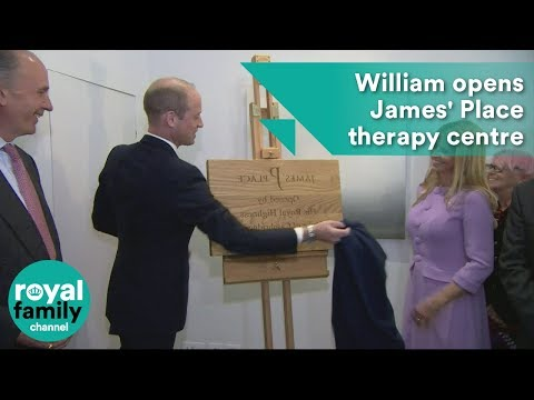 Prince William Opens James' Place Therapy Centre In Liverpool