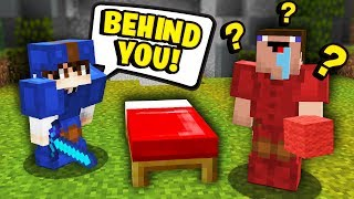 TROLLING the BIGGEST NOOB EVER in Minecraft Bedwars...