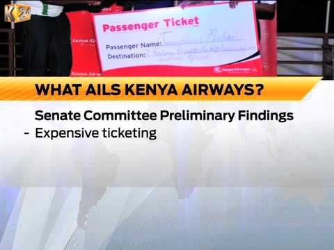 Senate select committee findings point to mismanagement as what ails Kenya Airways