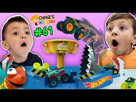 Chase's Corner: Hot Wheels Monster Trucks Mecha Shark Face Off W/ Shawn! | (#61) Doh Much Fun