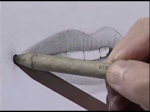 How to draw a female mouth 3/ Cómo dibujar una boca femenina 3.