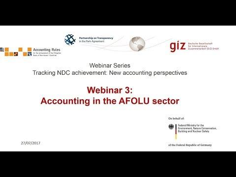 Webinar 3 Accounting in the AFOLU Sector