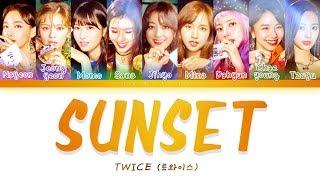 Video TWICE (트와이스) - SUNSET [Color Coded Lyrics/Han/Rom/Eng] MP3, 3GP, MP4, WEBM, AVI, FLV November 2018