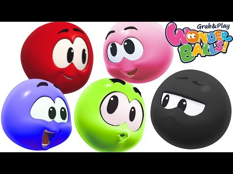 Colors With SQUISHY BALLS Vs Funny WonderBalls Creative Fun For Kids Wonderballs Official