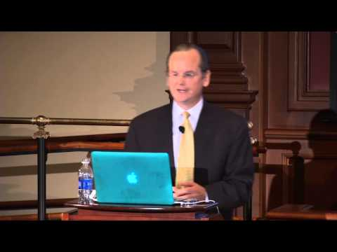 Lawrence Lessig marked his appointment as Roy L. Furman Professor of Law and Leadership at Harvard Law School with a lecture titled 