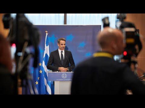 Συνέντευξη Τύπου K. Μητσοτάκη μετά το πέρας της Συνόδου του Ευρωπαϊκού Συμβουλίου στις Βρυξέλλες