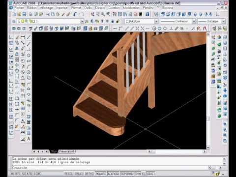 StairDesign software with Autocad. How to use AutoCad to insert a bullnose step into Stairdesigner/