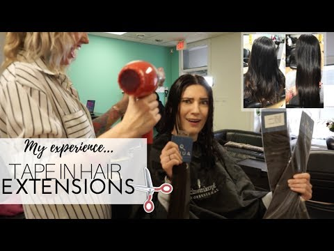 Hairdresser - GETTING TAPE IN EXTENSIONS  Hair Dresser Answers FAQ