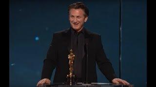 Nonton Sean Penn winning Best Actor for