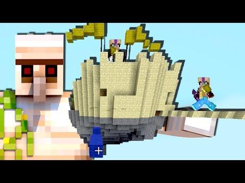 ЖЕЛЕЗНЫЙ ГОЛЕМ ПЫТАЕТСЯ ЗАЩИТИТЬ БАЗУ ЖЁЛТЫХ! - (Minecraft Bed Wars)