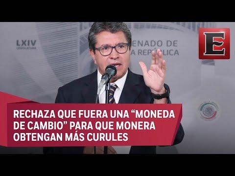 Ricardo Monreal defiende licencia otorgada a Manuel Velasco