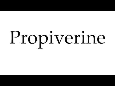 How to Pronounce Propiverine