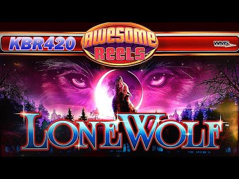 AWESOME REELS ~ LONE WOLF SLOT MACHINE BONUS WINS by WMS Slots
