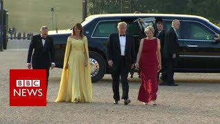 Video Trump arrives at Blenheim Palace - BBC News MP3, 3GP, MP4, WEBM, AVI, FLV Juli 2018