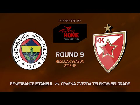 Highlights: RS Round 9, Fenerbahce Istanbul 79-61 Crvena Zvezda