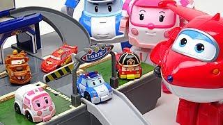 Video My friends are shrunk!! Super Wings, Disney Cars and Robocar Poli Pocket Playset!! - DuDuPopTOY MP3, 3GP, MP4, WEBM, AVI, FLV Januari 2018