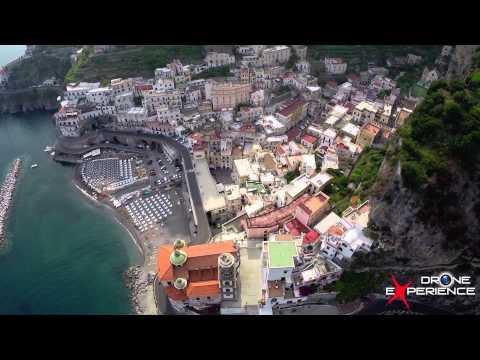 spettacolare ripresa aerea con drone della costiera amalfitana