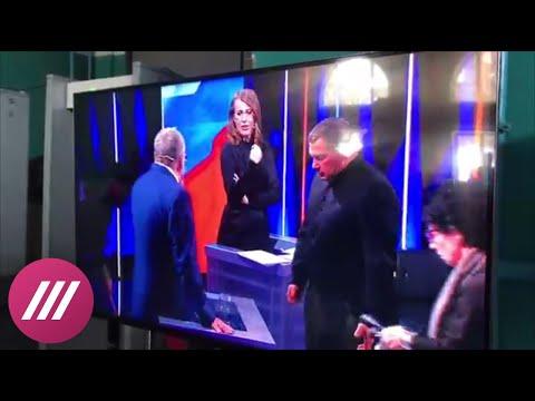 Жириновский обматерил Собчак на дебатах у Соловьева