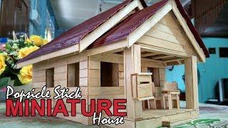 popsicle stick miniature house (rumah batang aiskrim)