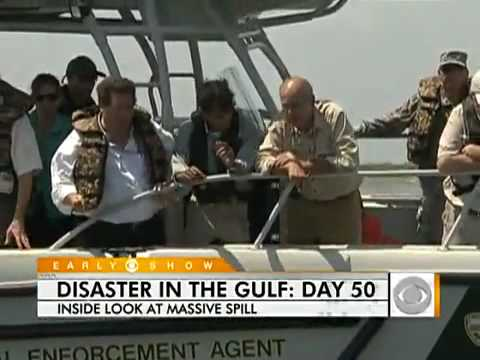 Day 50 BP Gulf Oil Spill * CBS BP BS PROPAGANDA *