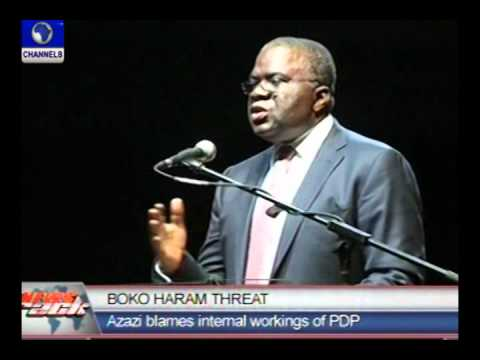 Video:Azazi blames Boko Haram attacks on PDP-Channelstv