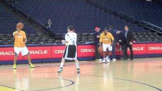 Jordan McCabe - Golden State Warriors Halftime and Warmup with Stephen Curry