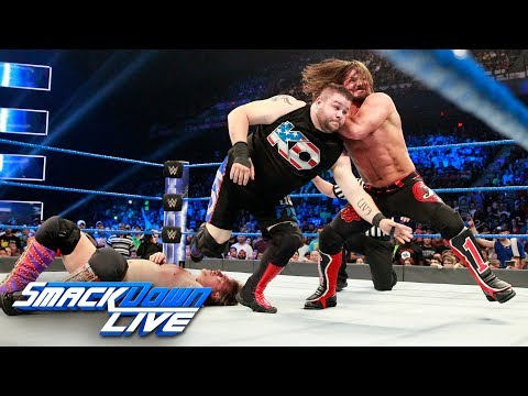 Kevin Owens Vs. AJ Styles Vs. Chris Jericho — U.S. Title Match: SmackDown LIVE, July 25, 2017