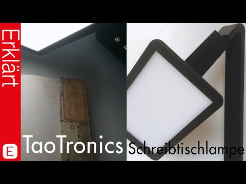 Schreibtischlampe mit Touchscreen und USB! TaoTronics LED Desk Lamp - Test / Review (Deutsch)