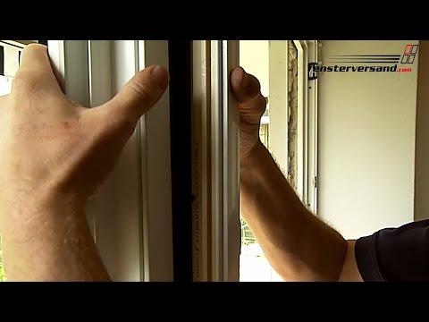 Montage Kombination Fenster-Tür mit Kopplung - fensterversand.com TV