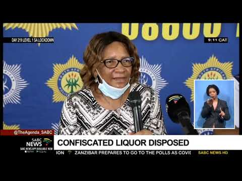 SAPS, City of Johannesburg dispose confiscated liquor