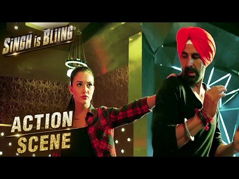 Akshay Kumar & Amy Jackson Fight Scene | Action Scene | Singh Is Bliing | Lara Dutta | HD