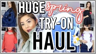 HUGE Spring Try-On Haul 2017! ♡ ft. Boohoo ♡ Adyel Juergensen