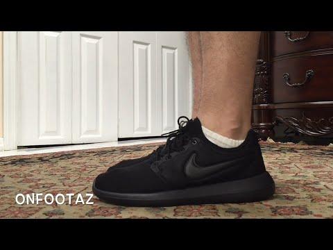 ... Nike Roshe Two 2 Triple Black On Foot - OnFoot AZ