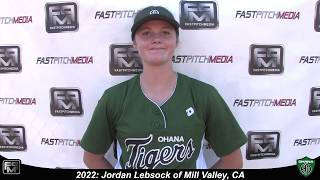 2022 Jordan Lebsock Catcher and Third Base Softball Skills Video