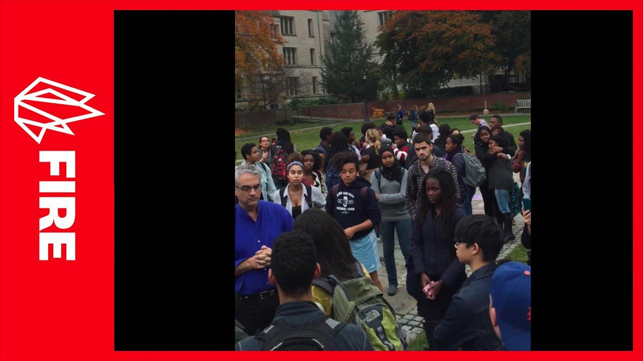 Yale SJWs screaming at professor yesterday because he isn't making ...