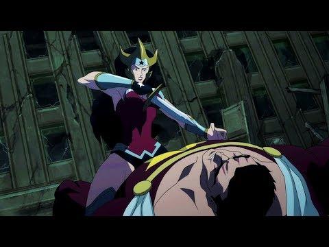 Wonder Woman kills Aquaman | Justice League: The Flashpoint Paradox
