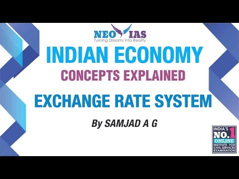 Exchange Rate System | External Sector | Indian Economy | ECONOMY GURU | NEO IAS
